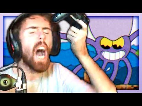 This Game Made Asmongold BREAK his controller & RAGE QUIT the Stream (Cuphead #2)