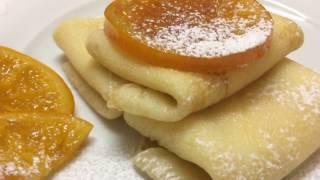 Обалденные блинчики с карамелизированными апельсинами и творожным кремом