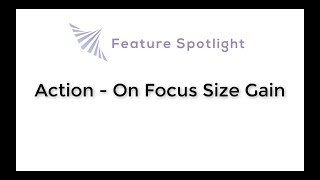InstaVR Feature Spotlight: Action - On Focus Size Gain