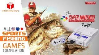 All SNES/Super Nintendo Fishing Games Compilation - Every Game (US/EU/JP)