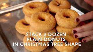 A Coffee Doughnut Christmas Tree and Other Simple Holiday Dessert Ideas