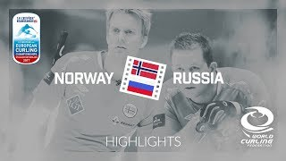 HIGHLIGHTS: Norway v Russia - Men round-robin - Le Gruyère AOP European Curling Championships 2017