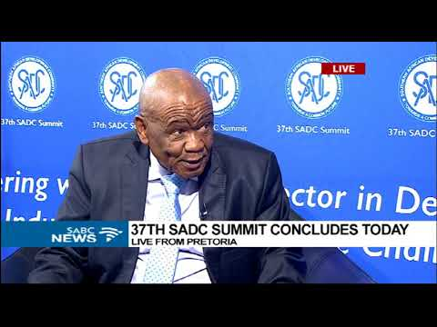 Lesotho PM Tom Thabane at the 37th SADC Summit