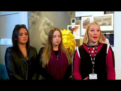 BA (Hons) Visual Merchandising and Branding talk about their window displays