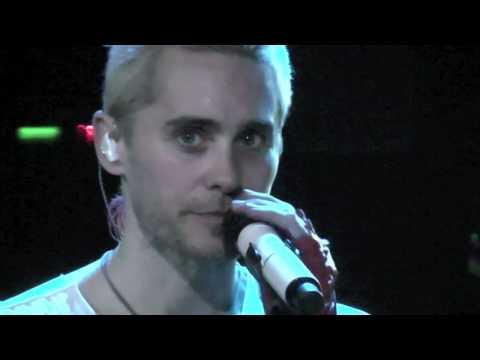 30 Seconds to Mars Live, Bad Romance - Jared talking, 08-06-10, 013 Tilburg HD