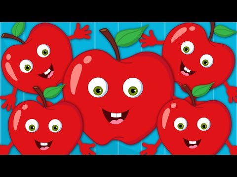 Five Red Apples Jumping On The Bed | Nursery Rhymes For Children by Kids Tv