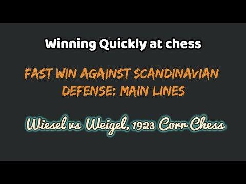 winning Quickly at chess :  Scandinavian Defense Main lines | Wiesel vs Weigel