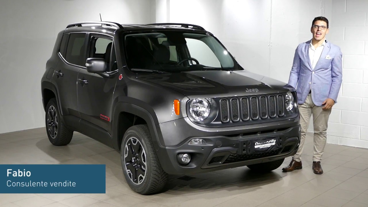 jeep renegade trailhawk km 0 offerta campello motors youtube. Black Bedroom Furniture Sets. Home Design Ideas