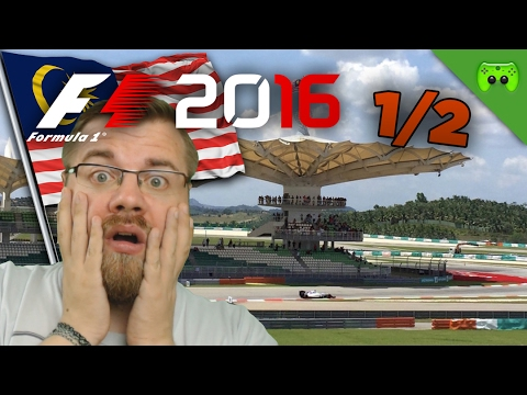 REGENRENNEN?! | Malaysia 1/2 🎮 F1 2016 #45