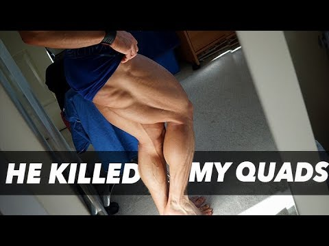 MY COACH BROKE ME | QUAD WORKOUT | NUTELLA DONUTS