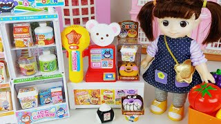 Baby doll mart register toys food play story - ToyMong TV 토이몽
