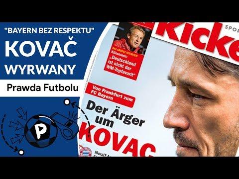 """""""Bayern bez respektu"""" - głosi Bobič z Eintrachtu, Kovač za Heynckesa, pytanie czy poprowadzi RL9?"""