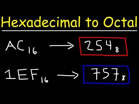 Hexadecimal To Octal Conversion