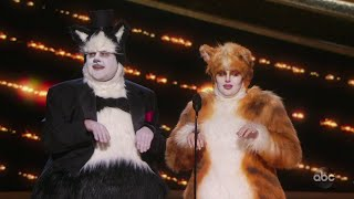 James Corden and Rebel Wilson Dressed as Cats