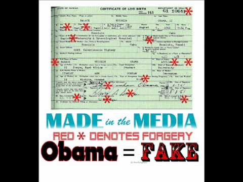 Image result for obama's fake birth certificate