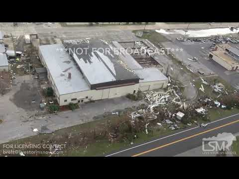 10-11-2018, Tyndall AFB destruction Hurricane Michael, fighter jet flipped upside down Chopper vid