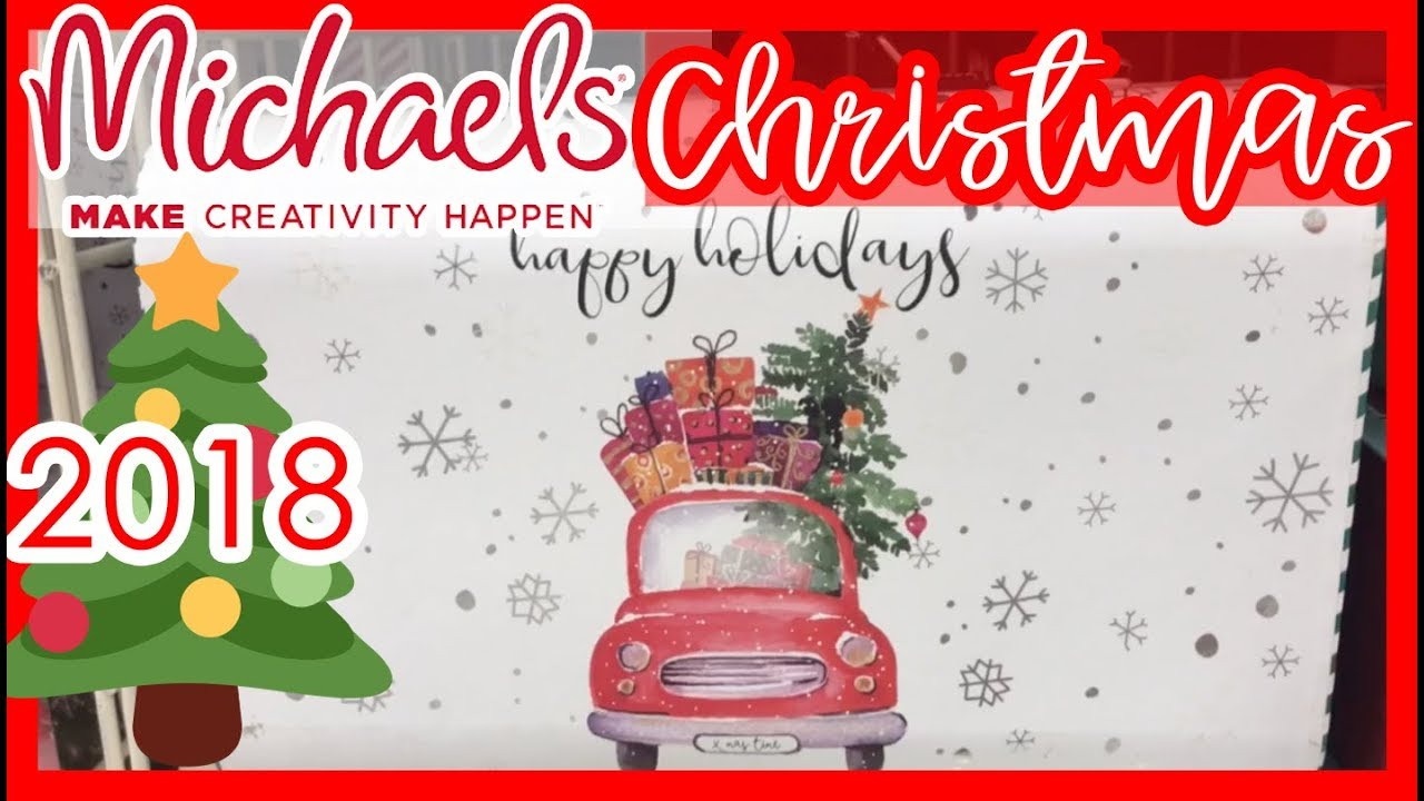 😍 MICHAEL\'S CHRISTMAS DECOR 2018 | COME SHOP WITH ME! - YouTube