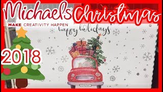 😍 MICHAEL'S CHRISTMAS DECOR 2018 | COME SHOP WITH ME!