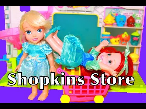Shopkins Tall Mall Playset From Big to Small with Season 5 Shopkins Exclusives clip