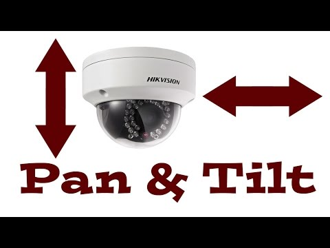 How to manually adjust PAN & TILT - HIKVISION IP Dome Camera DS-2CD2132-I