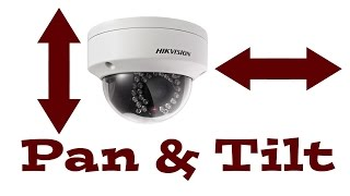how to manually pan and tilt the hikvision ip dome camera ds 2cd2132 i