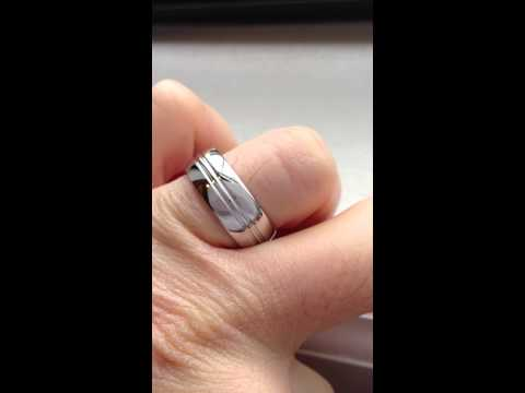 Cobalt Wedding Band Ring Shiny Polished Groove MensWomen USA SELLER ebay jpg