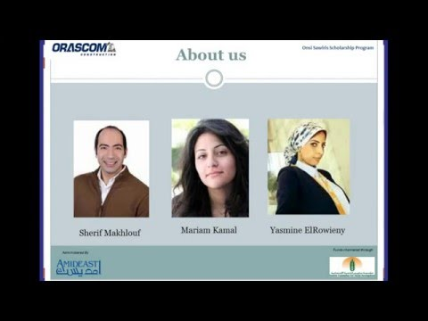 Webinar - Onsi Sawiris Scholarship Program
