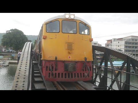 Kanchanaburi Station & SRT Infamous Bridge Over The River Kwai & Trains, Thailand  August 2016