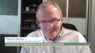 """Le Président Patrick Weiten : """"le Département de la Moselle est sur le pont"""""""