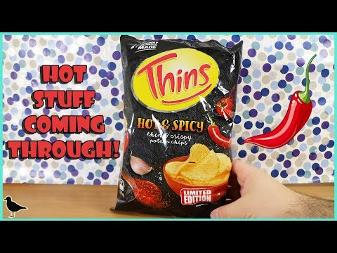 Limited Edition Thins Hot & Spicy Potato Chips Food Tasting Review! | Birdew Reviews