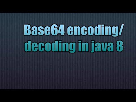 Base64 encoding/decoding in java 8