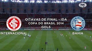 Gols - Internacional-RS 0 x 2 Bahia - Copa Sul-Americana 2014 - 27/08/2014