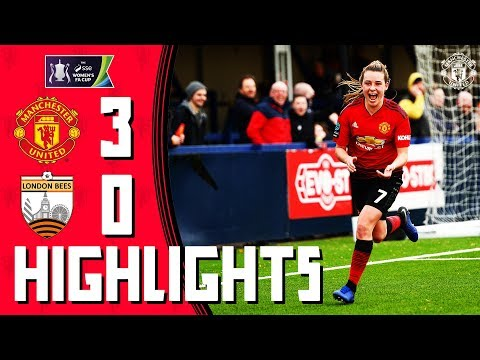 MU Women Highlights | Manchester United 3-0 London Bees | Womens FA Cup