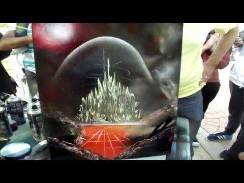 Street Spray Paint Art/Vlog at Platinum Sports Club Opening Cairo Ft. Connor