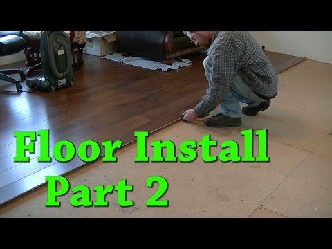 New Floor Install Carpet Removal Laminate Install Part 2 of 2