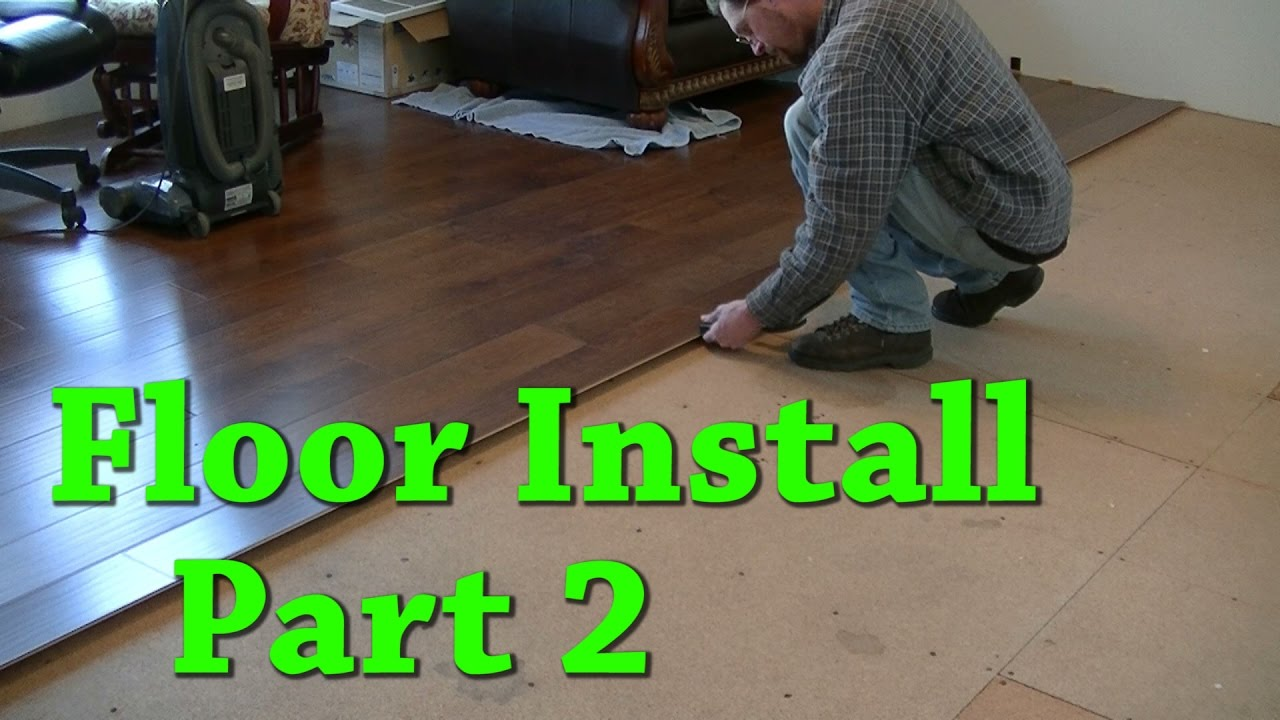 New Floor Install Carpet Removal Laminate Install Part 2 of 2 - YouTube