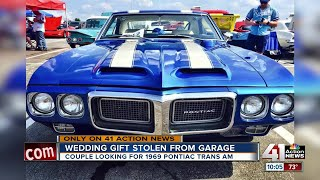 1969 Pontiac Trans AM given as wedding gift stolen from Kansas City garage
