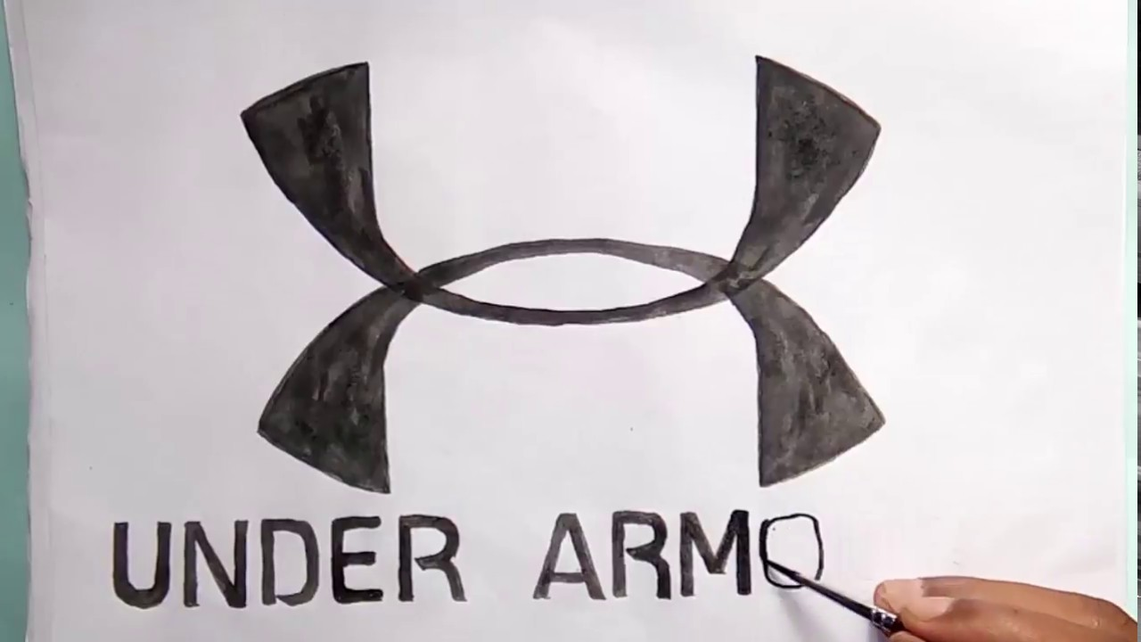 How To Draw The Under Armour Symbol Youtube
