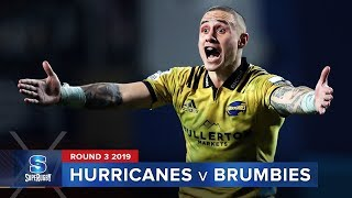 Hurricanes v Brumbies | Super Rugby 2019 Rd 3 Highlights