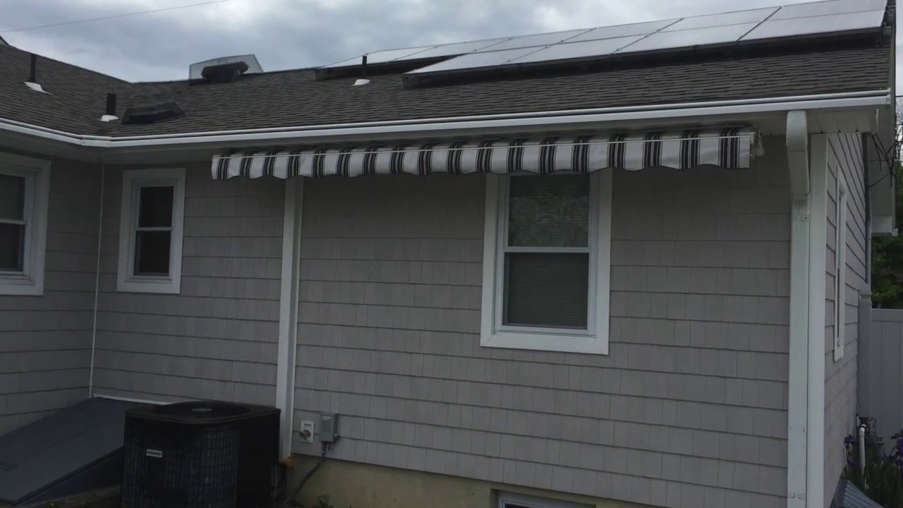 sunsetter soffit mount beachwood nj retractable awning job youtube