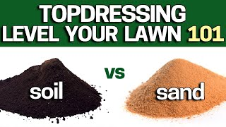 How to Topdress & Level Your Lawn Using Sand or TopSoil?  Beginners DIY Guide - 2019