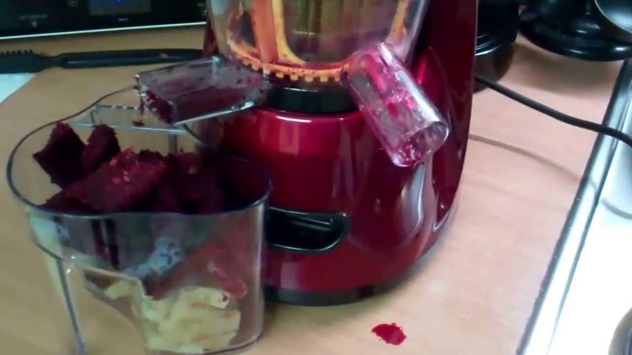 Produkttest fur den Klarstein Bella Rossa Slow Juicer Saftpresse Entsafter - YouTube