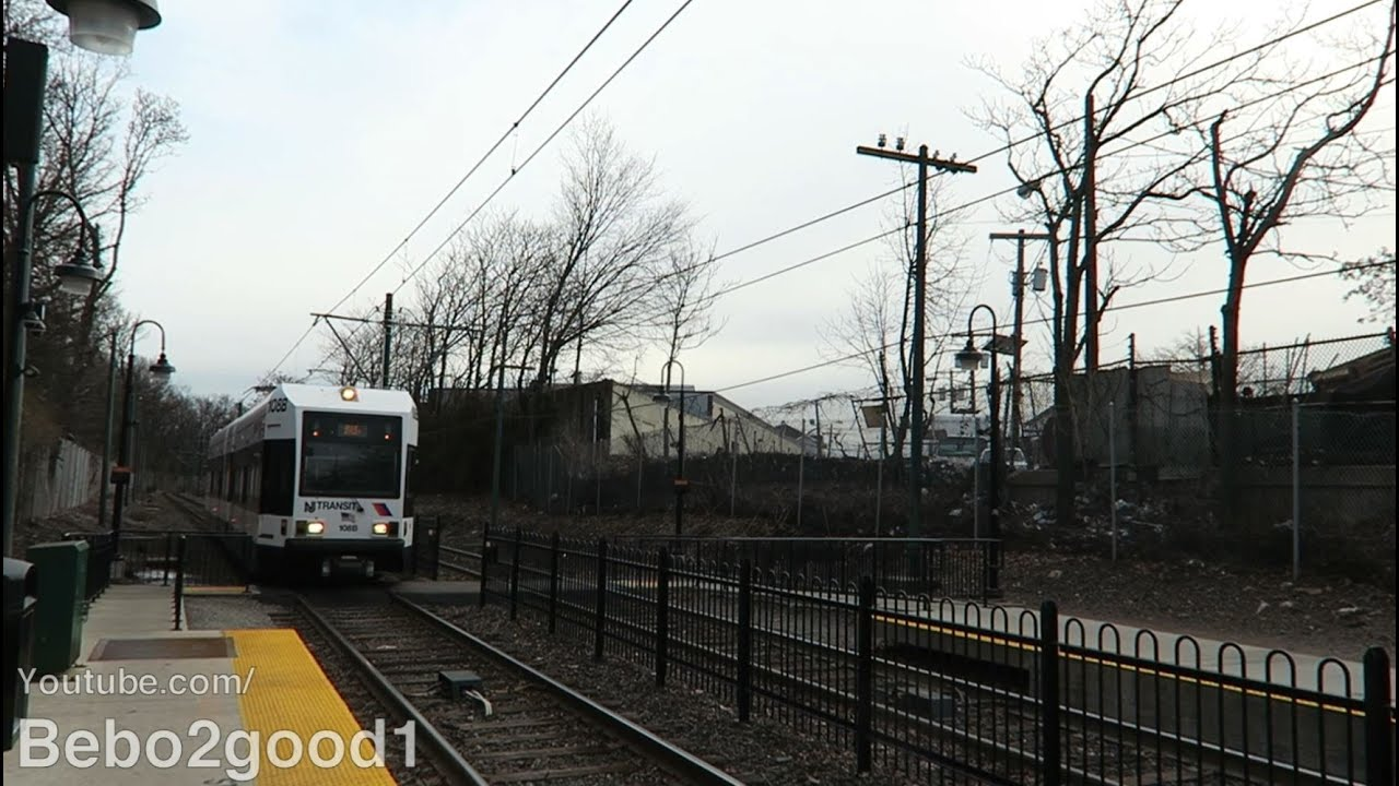 Nj Transit Newark Lrt Train At Davenport Avenue Lrt 60fps