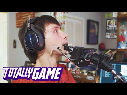 Paralysed Gamer Plays Warzone With His Mouth | TOTALLY GAME