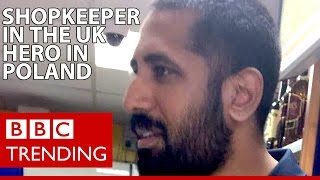How Gloucestershire shopkeeper Amo Singh became a hero in Poland - BBC Trending