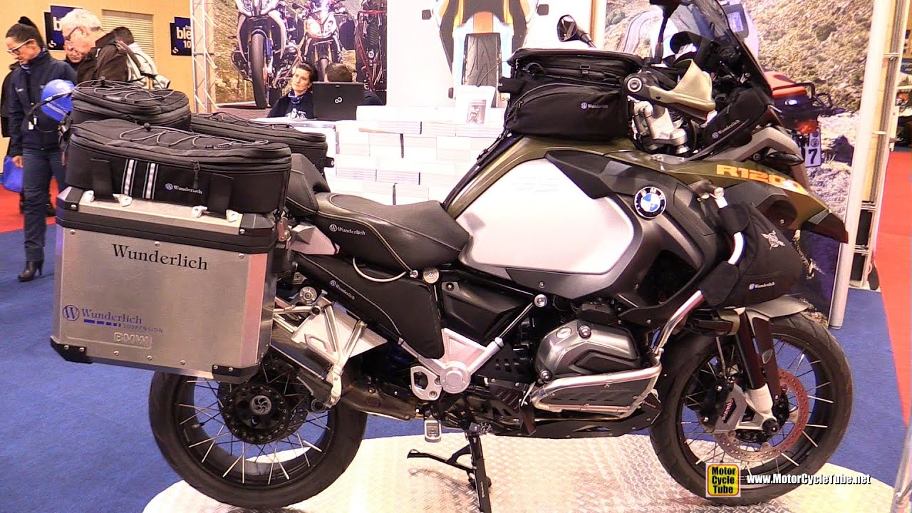 2016 bmw r1200gs adventure by wunderlich walkaround 2015 salon moto paris youtube. Black Bedroom Furniture Sets. Home Design Ideas