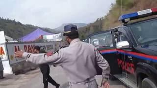 Prime Minister Azad jamu Kashmir  visit to ad water rescue station muzaffarabad