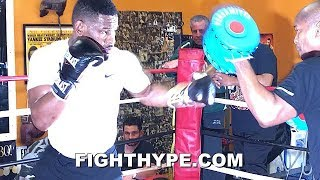 "DANIEL JACOBS SHOWS CANELO HIS ""AFRICAN STYLE""; GIVES SNEAK PEEK AT ARSENAL IN STORE"