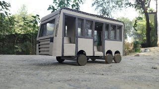 How To Make Toy Bus | Cardboard Bus | Cardboard Bus For School Project - Mini Bus