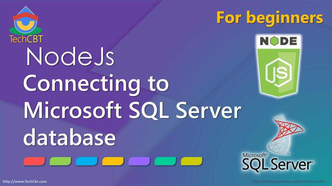 How to connect to Microsoft SQL Server database using NodeJs